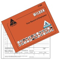 Employee Time Record Book Wildon WIL173W - each