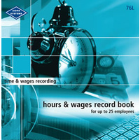 Hours and Wages Record Book Large Zions 76L - each