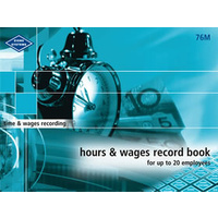 Hours and Wages Record Book (Medium) Zions 76M - each