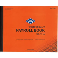 Payroll Book 54 sets Per Book Zions 456S - each