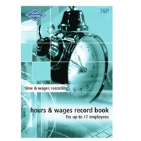 Pocket Hours and Wages Record Book Small Zions 76P - each