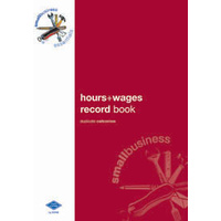 Hours Wages Book Zions Small Business Essentials SBE9 - each