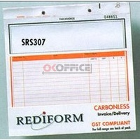 Rediform Triplicate Invoice Delivery snap Set SRS307 - pack 50