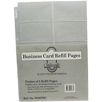 Business Card Binder refills A4 W80PBC to fit W80-200 pack 5 Waterville