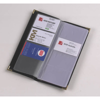 Business Card book Holder Black holds 96 cards With Brass corners Marbig 7180002 - * obsolete item - Limited stock