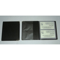 Business Card Holder 48 Cards Cumberland OMBCF48BK 2 per view 48 card capacity