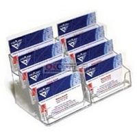 Business Card Holder Clear 8 Tier Compartment - each