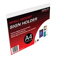 Deflecto A4 Landscape Wall Sign Holder 46901 - each