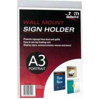 Deflecto A3 Portrait Wall Sign Holder 47201 - each