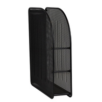 Magazine Rack Mesh Black Stand Metal Italplast I342 Black file your magazines