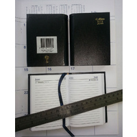 Diary 2018 Sterling A71 133P A7 POCKET 1 Day to page BLACK 133PP9918 Collins with pencil