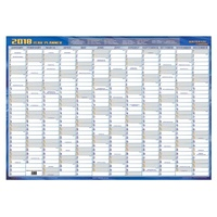 Year Planner 2018 A2 700x1000 rolled up laminated Writeraze executive 1080018