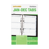 Dayplanner DK1010 Desk Organiser Jan To Dec Tabs 7-Ring, Page Size 216x140mm.