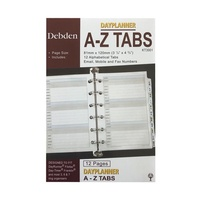 Diary Refill Dayplanner Pocket Organiser Tabs A to Z KT3001 -