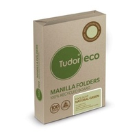 Manilla Folders Foolscap ECO STD box 100  Tudor 141019