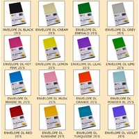 Envelopes 110x220 DL XL Multi Peal and Seal Quill PACK 25