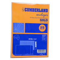 Envelopes 229x162 C5 Peel and Seal Gold Camerons - pack 25