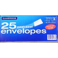 Envelopes 110x220 DL White PS Peel N Seal Secretive - Camerons - pack 25