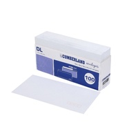 DL Envelopes 110x220 Peel n Seal Post Office Squares -Tray 100  903316/28513 strip seal white