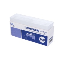 DL Envelopes 110x220 Strip Seal Window Face Secretive box 100 Cumberland 903356/28514 White PS WF