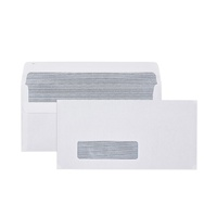 DL Envelopes 110x220 Self Seal Window Secretive BOX 500 Cumberland 603214 standard office DL SS WF SEC