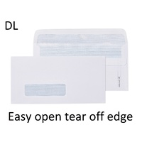 Dl Envelopes 110x220mm Easy Open Secretive Self Seal Box 500 Cumberland 603217 white