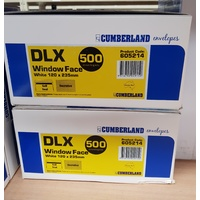 DLX Envelopes 120x235 Self Seal WINDOW Secretive box 500 SS 605214 larger size for inserting machines