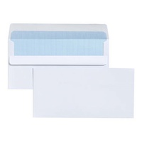 Envelopes 110x220 DL White SS S Self Seal Secretive Tudor 140074 - box 500