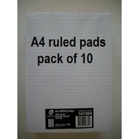 Office Pads A4 Ruled #1 White Olympic 141304 22364 - pack 10