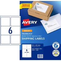 InkJet Labels  6 per sheet J8166 White Permanent Avery 936023 - box 25