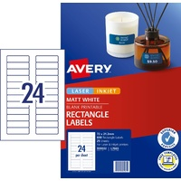 Avery 959032 Data Cartridge Labels Laser 24 per sheet L7665 Avery Mini - box 25 * discounts for 5 or more boxes
