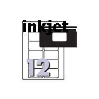 Labels J8671 InkJet Labels for Video Face 12 sheet 76.2x46.4mm Avery 936027 - pack 25