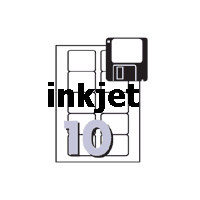 InkJet Labels for Diskettes J8666 3.5 inch Face only 70x52mm Avery 936025 - pack 25