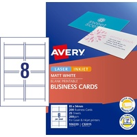 InkJet Business CARDS coated matte 250gsm C32015-25 quick clean Avery 936220 - box 25
