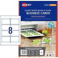 InkJet Business cards photo quality 220gsm C32028-25 quick clean Avery 936221 - box 25