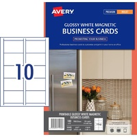 Magnetic Business Cards IJ37 Avery 10 Sheets, 10 per sheet (100) - pack