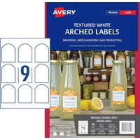 Avery Label Merchandising White Arch Textured L7118 9 Per Sheet 980003 - pack 10