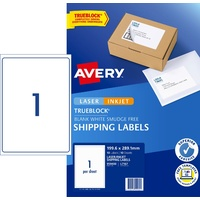 Label Avery Internet Shipping Label 1up 959400 Pack 10