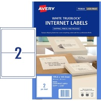 Label Avery Internet Shipping Label 2up 959401 Pack 10