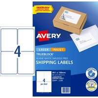 Label Avery Internet Shipping Label 4up 959402 Pack 10