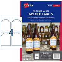 Label Avery White Arch Textured 89 x 121mm L7128 980023 Pack 10