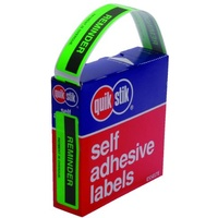 Labels Reminder Account overdue 19x64mm Quik Stik 80256P - box 125