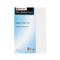 Binding Covers [1] Clear A4 250 Micron Rexel or Ibico - box 100