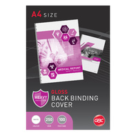 Binding Cover Gloss White Pack 100 BCG250W100 Ibico