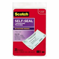Self Laminating Pouch Business Card Size LS851 0403279 - box 25 3m