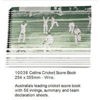 Cricket Score Book Collins CSW 247 x 330mm 56 Innings Wiro - each