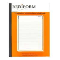 Rediform Triplicate feint ruled book carbonless 10x8 RB303L - pack 5