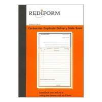 Rediform Duplicate delivery notebook carbonless 8x5 SRB206 - pack 5