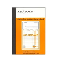 Rediform Duplicate delivery invoice book 10x8 SRB207L - pack 5