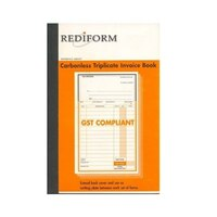 Rediform Triplicate delivery invoice book carbonless 8x5 SRB307 pack 5